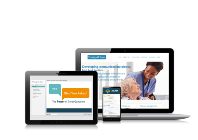 Microlearning for front line staff, MyTeam App for nurse managers and website design